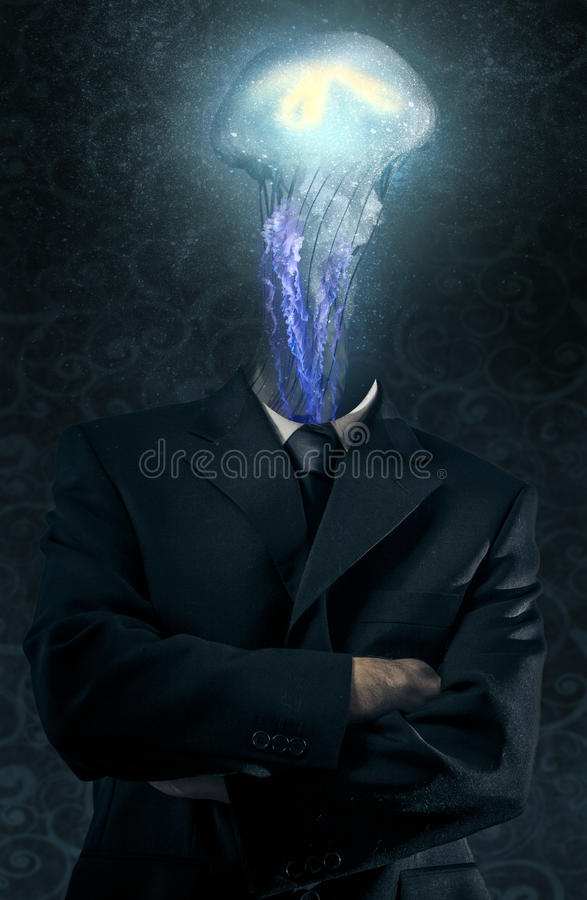 Medusa jellyfish male model evil blind fallen angel of deat royalty free stock image - Free evil angel pictures ...