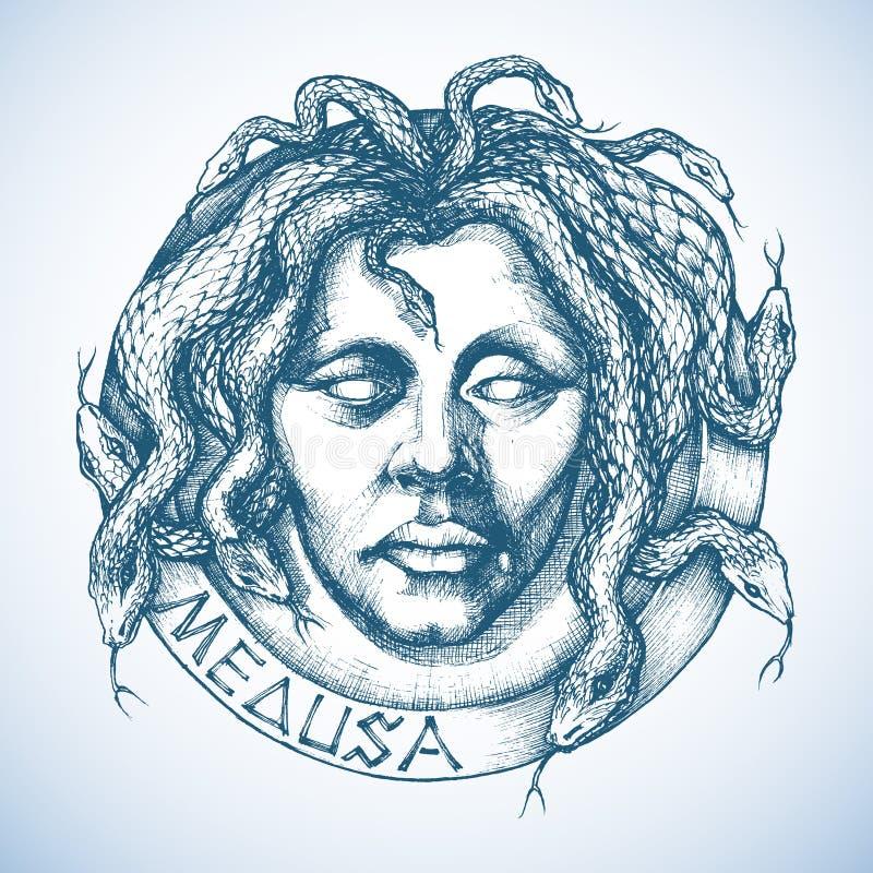 Medusa mitológico ilustração do vetor