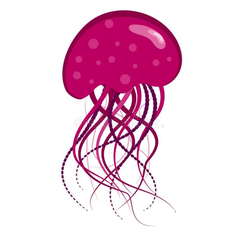Medusa roxas fotografia de stock royalty free
