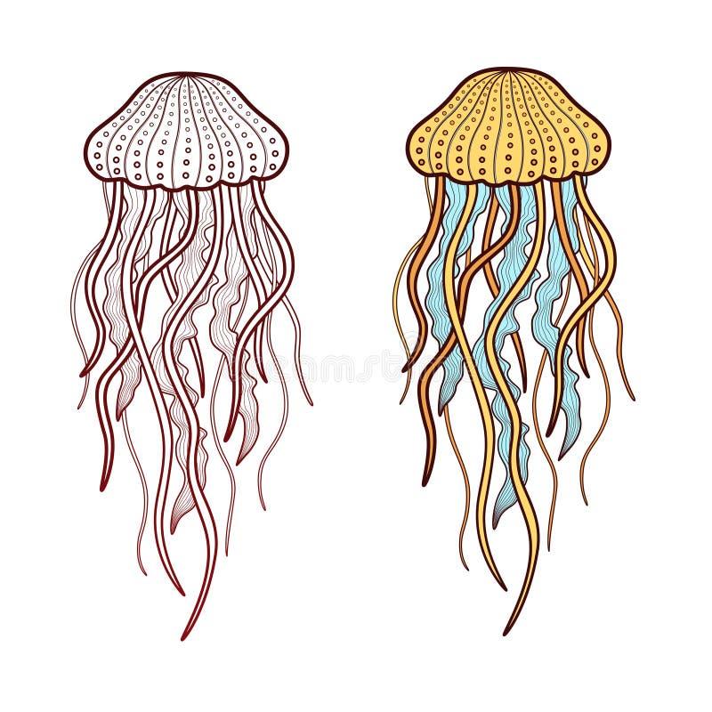 medusas ilustração stock