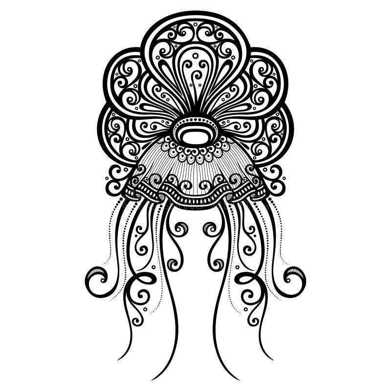 Medusas abstractas del mar del vector libre illustration