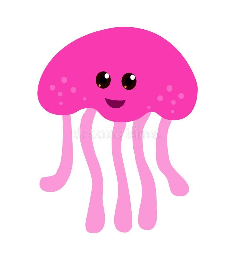 Medusas dos desenhos animados ilustração stock