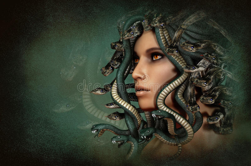 Meduza, 3d CG ilustracji