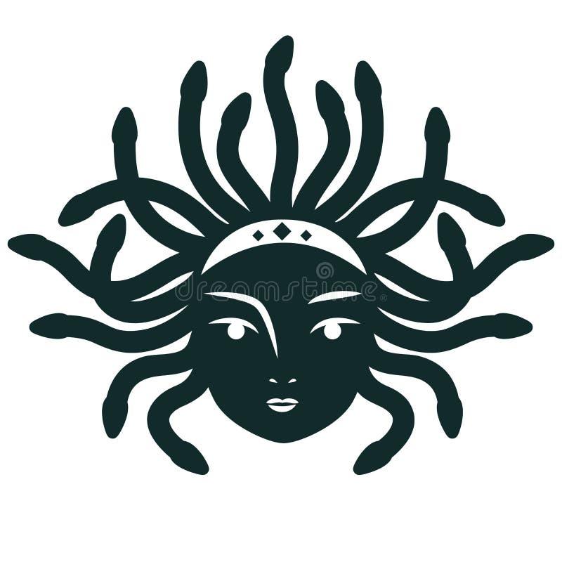 Meduza Gorgona również zwrócić corel ilustracji wektora royalty ilustracja