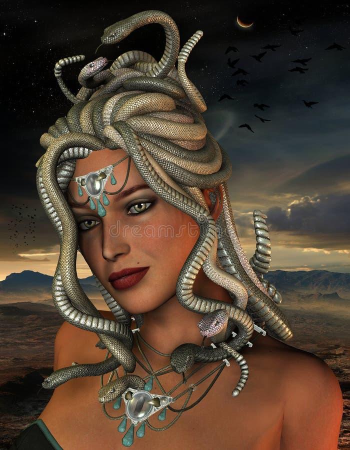 Meduza w nocy ilustracji