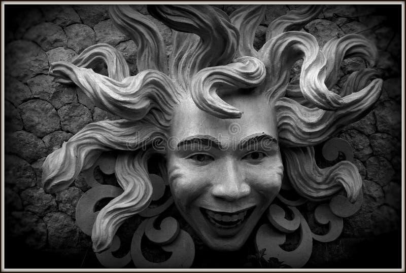 Meduzy twarz zdjęcie royalty free