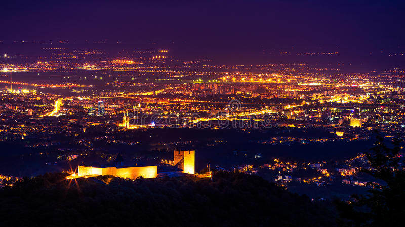 Medvedgrad Zagreb Night Editorial Photography Image Of Landscape 93672847