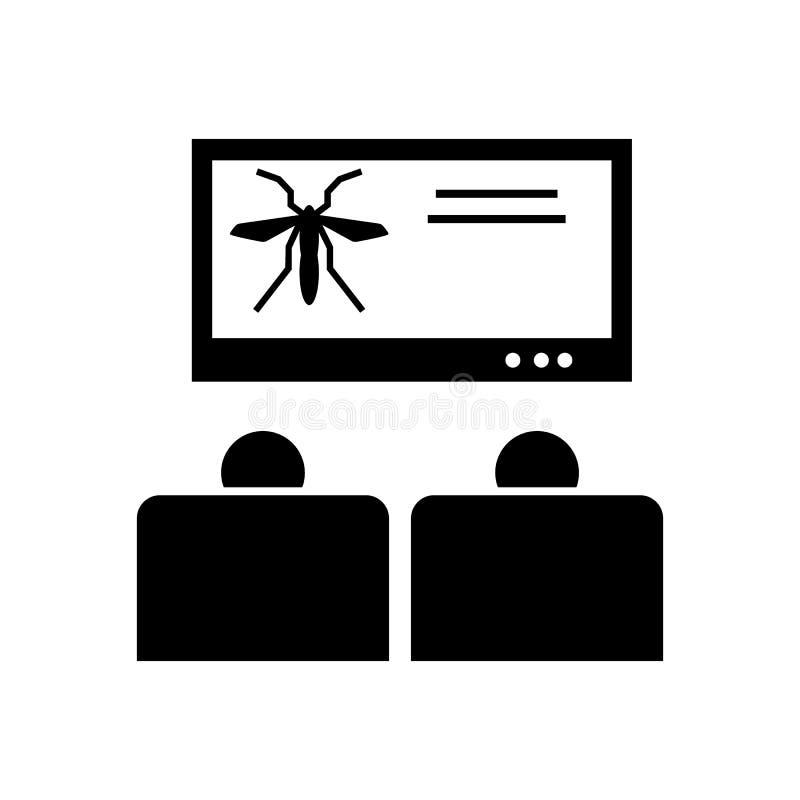 Medvetenhet aktion, denguefeber, virussymbol Best?ndsdel av aedesmygga- och denguefebersymbolen H?gv?rdig kvalitets- symbol f?r g royaltyfri illustrationer