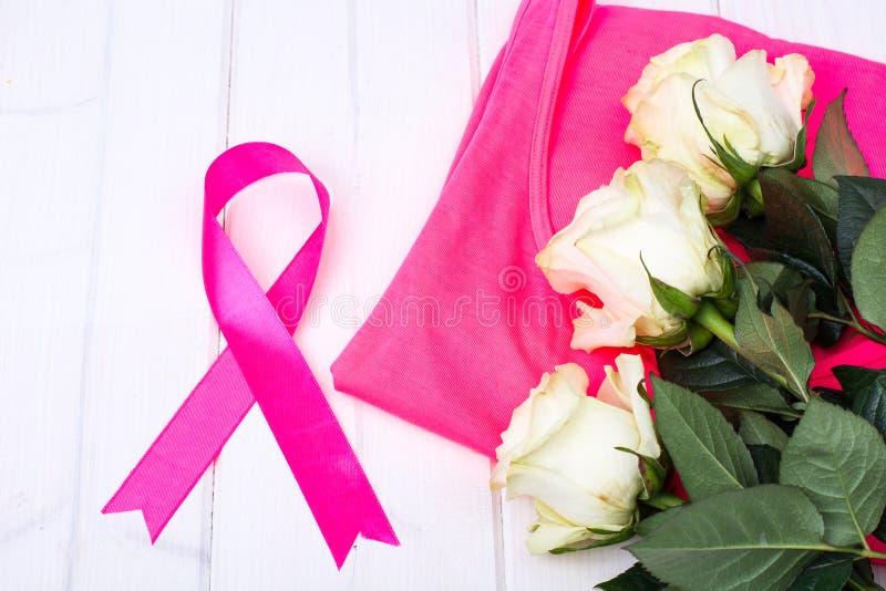 Medvetenheten av folk och kampen mot bröstcancer fotografering för bildbyråer