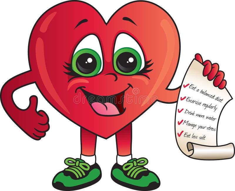 Den sunda hjärtakontrollen listar stock illustrationer