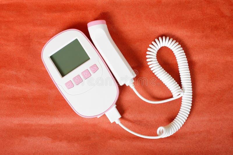 Medycyna - Biały Płodowy Doppler zdjęcia stock