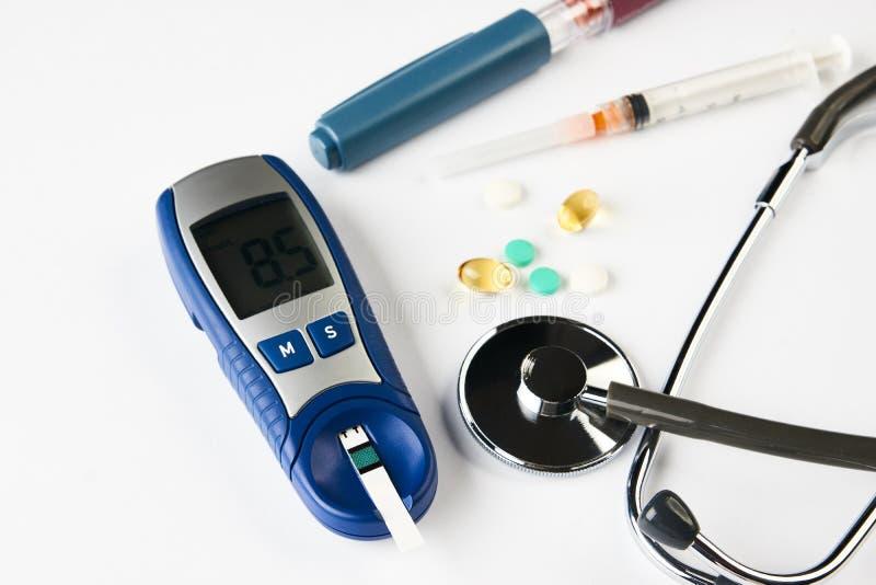 Medycyna, cukrzyce, glycemia, opieki zdrowotnej pojęcie zdjęcie stock
