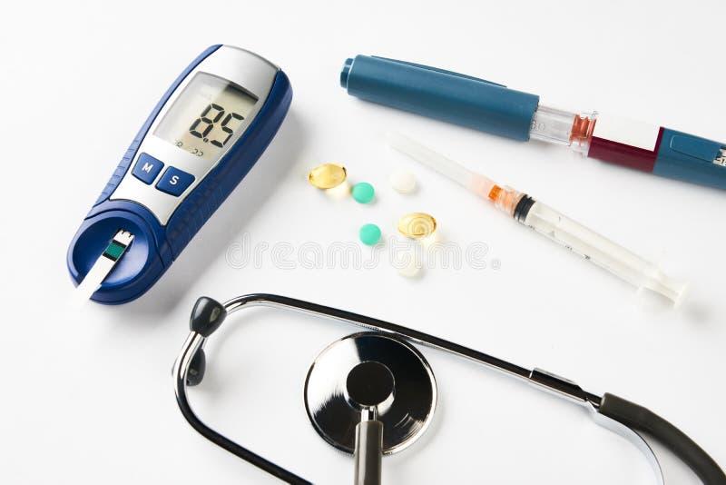 Medycyna, cukrzyce, glycemia, opieki zdrowotnej pojęcie fotografia royalty free