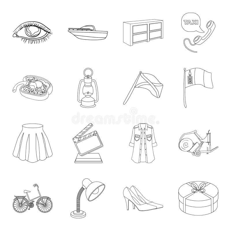 Medycyna, sport, ślub i inna sieci ikona w konturze, projektujemy usługa, transport, edukacj ikony w ustalonej kolekci ilustracji