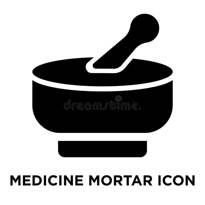 Medycyny ikony Moździerzowy wektor odizolowywający na białym tle, logo c ilustracji