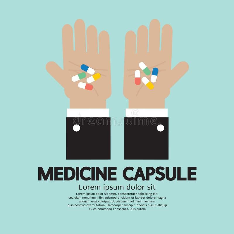 Medycyny kapsuła W ręce royalty ilustracja
