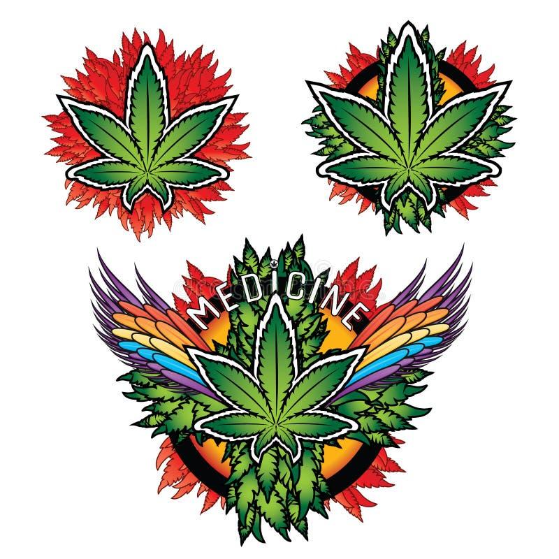 Medycyny marihuany tekstury graficzny tło ilustracji