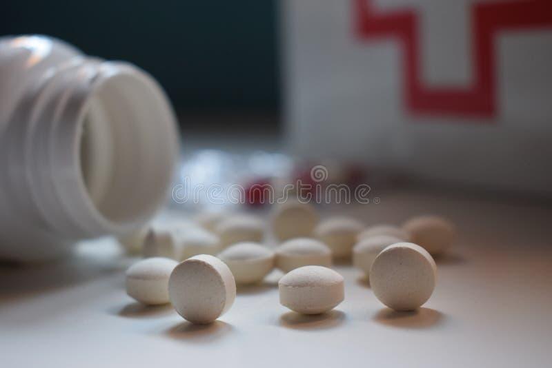 Medycyny są dobre dla zdrowego życia obrazy stock
