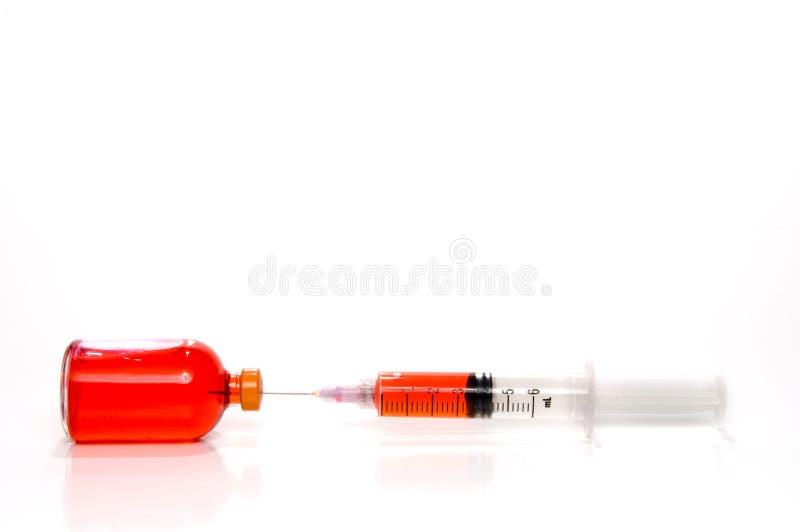 medycyny strzykawki buteleczka obraz royalty free