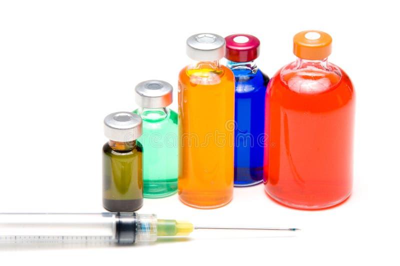 medycyny strzykawki buteleczki obraz royalty free