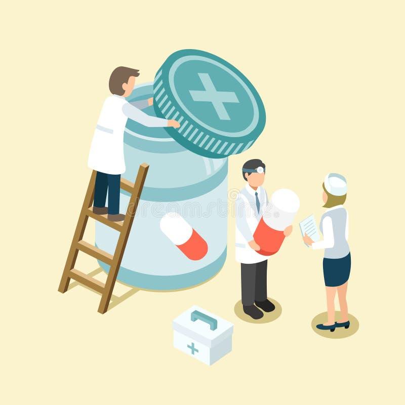 Medycyny zarządzanie royalty ilustracja