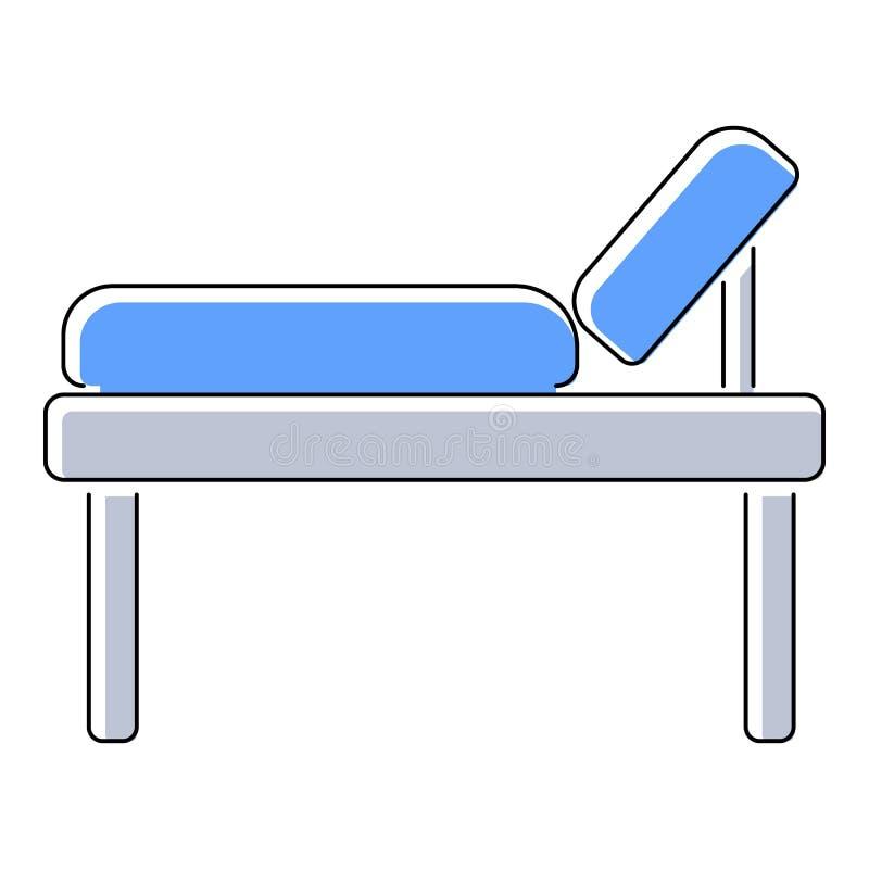 Medyczna łóżkowa ikona, mieszkanie styl ilustracja wektor