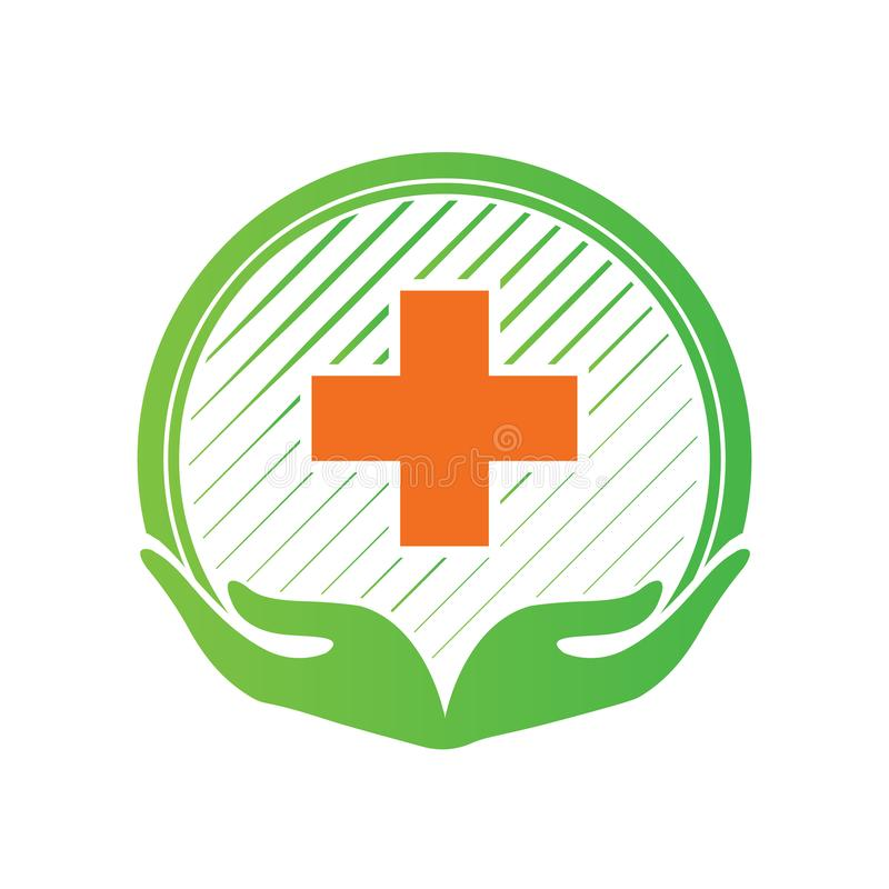 Medyczna apteka krzyża logo projekta szablonu studenta medycynego krzyża ikona również zwrócić corel ilustracji wektora ilustracji