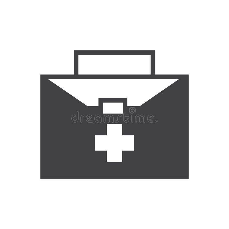 Medyczna i opieka zdrowotna torba ilustracji