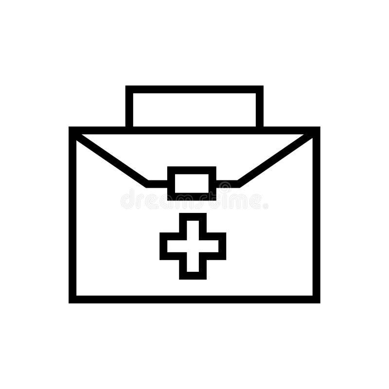 Medyczna i opieka zdrowotna torba royalty ilustracja