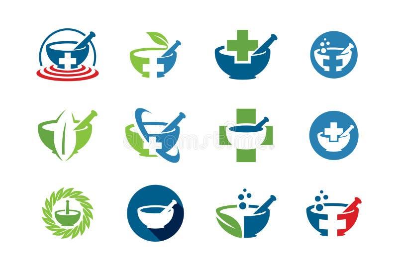 Medyczna ikona lub loga set royalty ilustracja