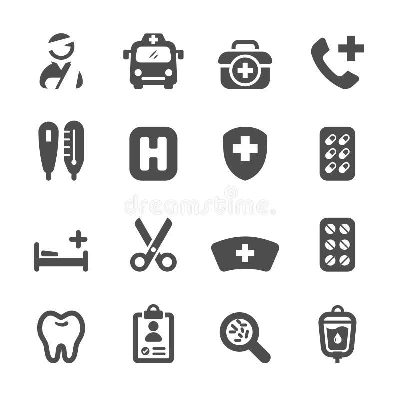 Medyczna ikona ustawia 3, wektor eps10 ilustracja wektor