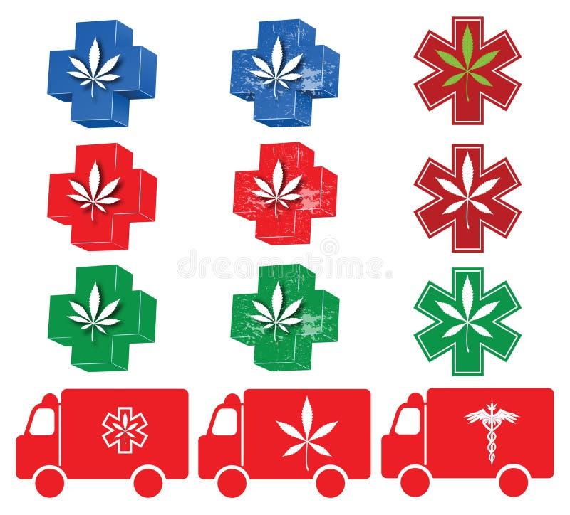 medyczna ikony (1) marihuana ilustracji