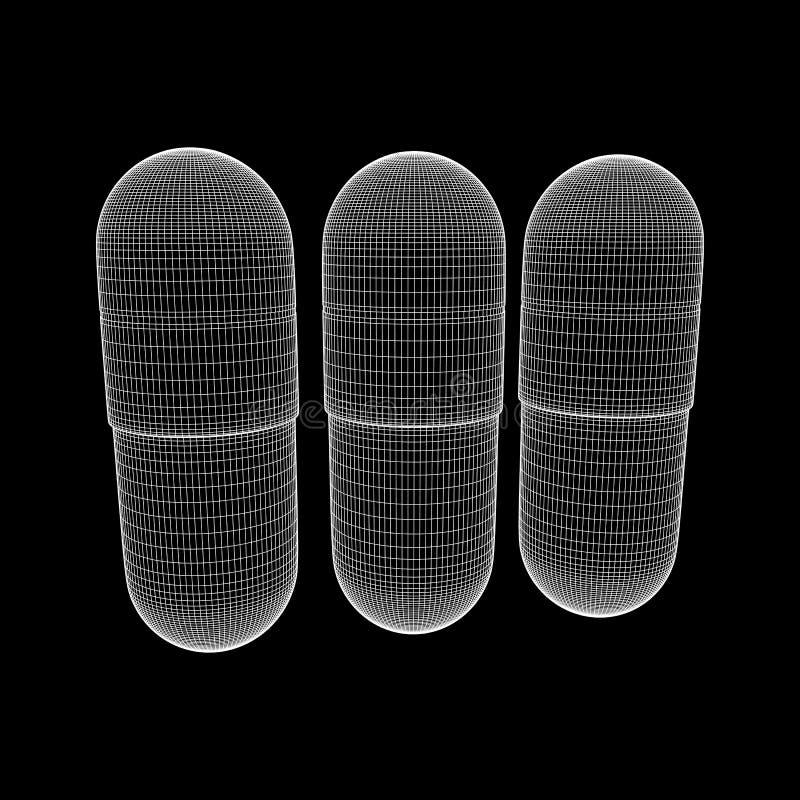 Medyczna kapsuły pigułka ilustracja wektor