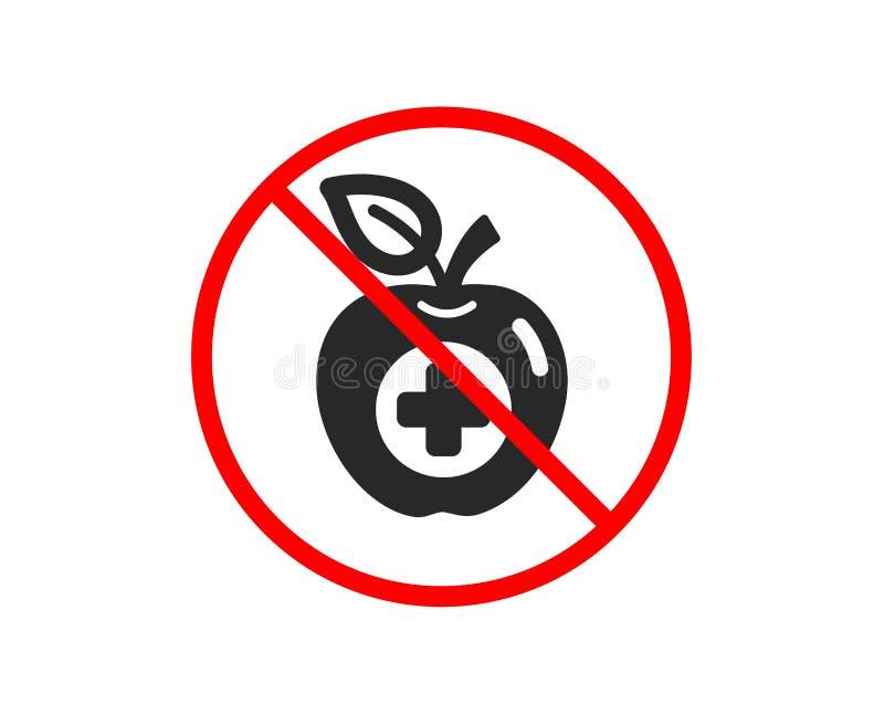 Medyczna karmowa ikona Zdrowia jab?ka znak wektor royalty ilustracja