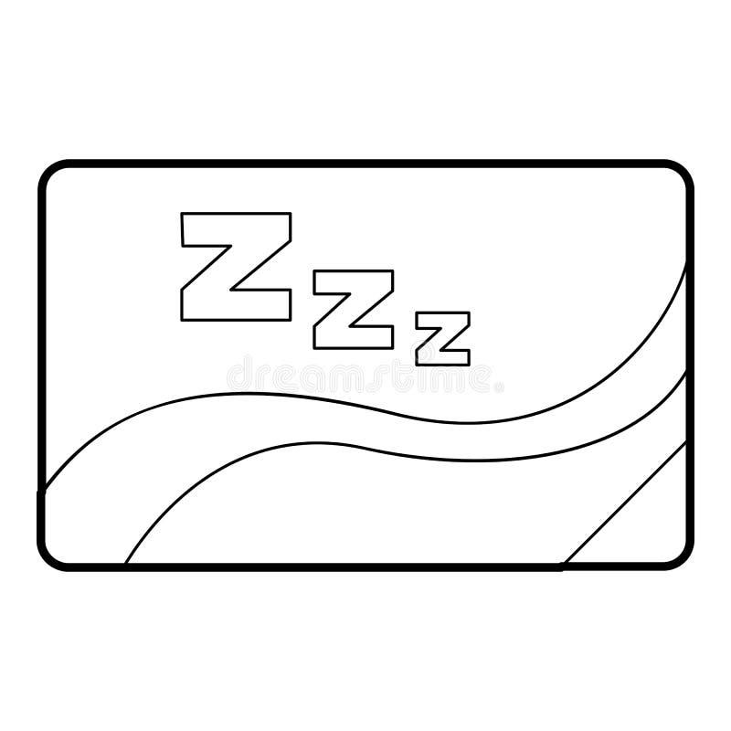Medyczna karta sen ikona, konturu styl royalty ilustracja