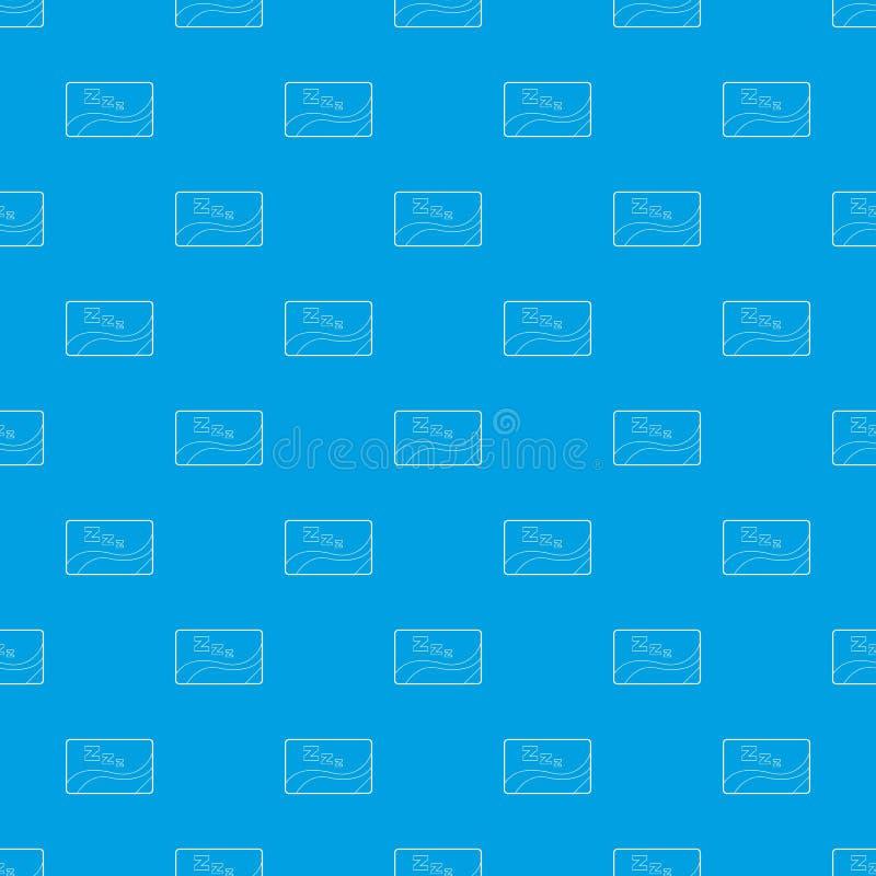 Medyczna karta sen wzoru wektorowy bezszwowy błękit ilustracja wektor