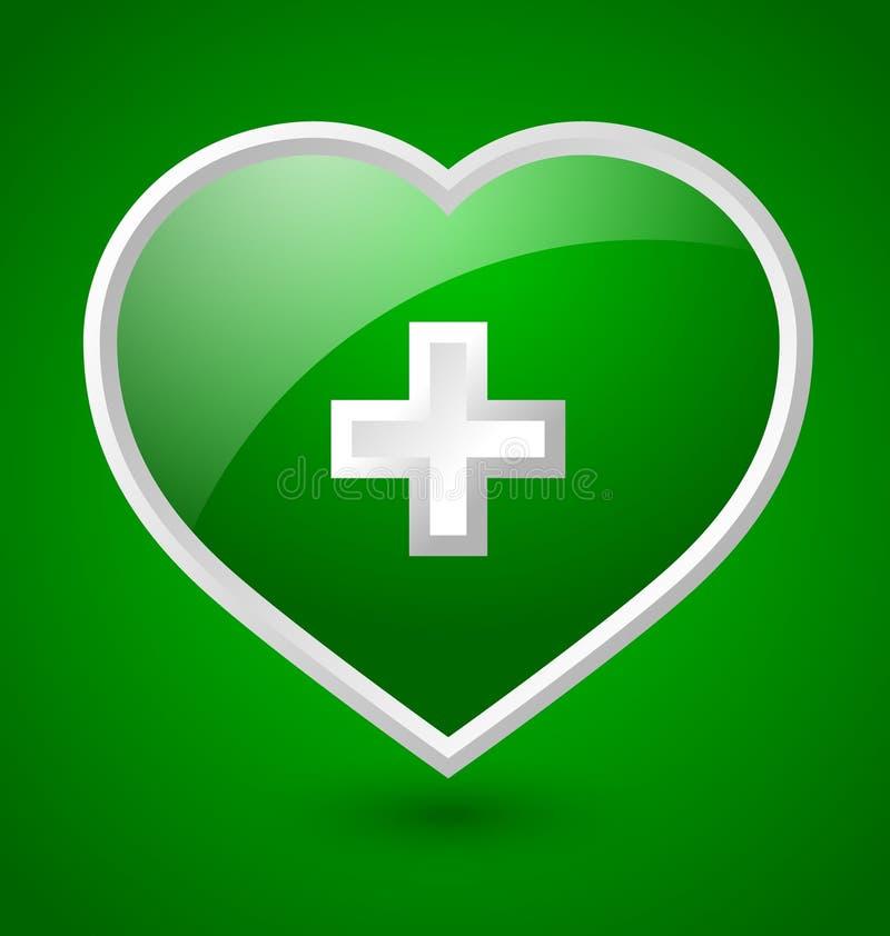 Medyczna kierowa ikona ilustracja wektor