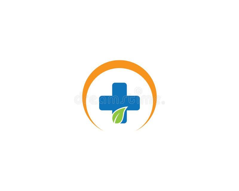 Medyczna loga szablonu ilustracja ilustracja wektor