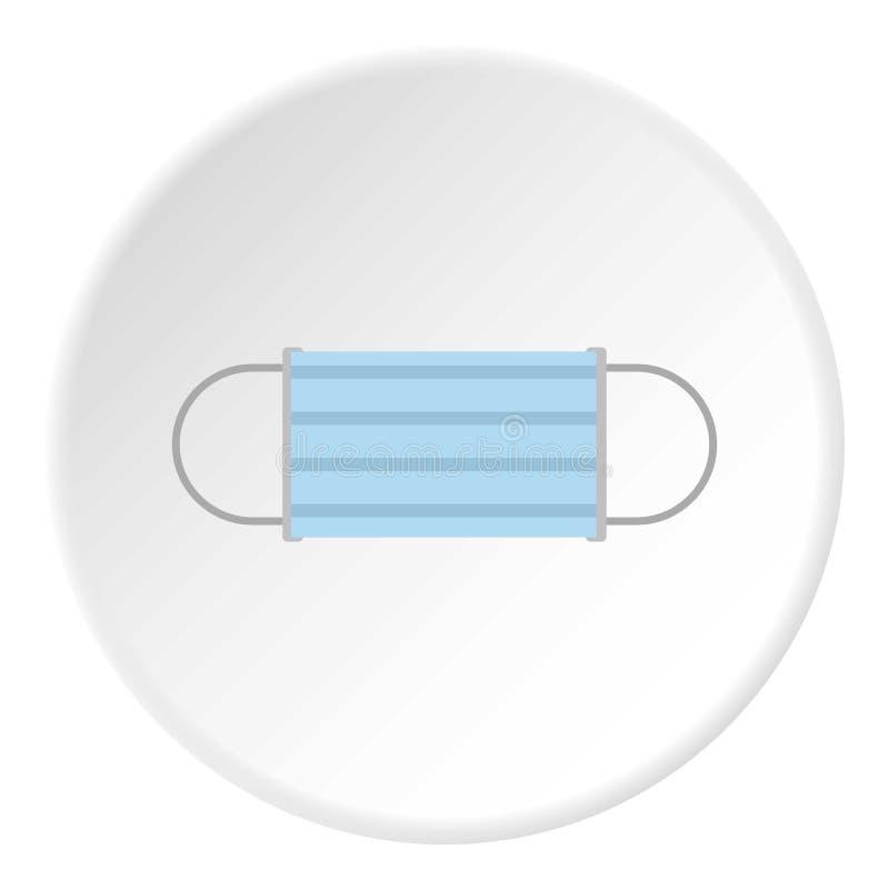 Medyczna maskowa ikona, mieszkanie styl ilustracji