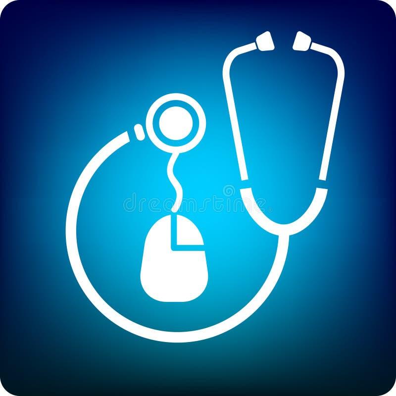 medyczna mysz ilustracja wektor