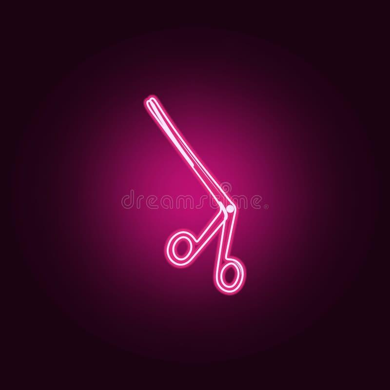 Medyczna nożyce ikona Elementy medycyna w neonowych stylowych ikonach Prosta ikona dla stron internetowych, sieć projekt, mobilny ilustracji