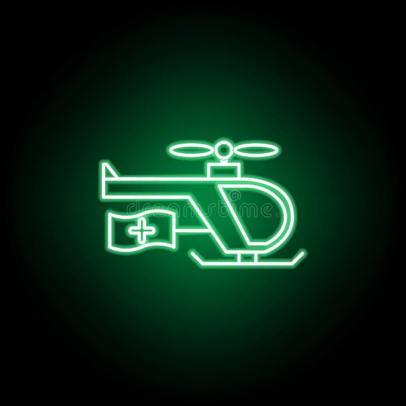 Medyczna, przeciwawaryjna siekacz ikona w neonowym stylu, Element medycyny ilustracja Znaki i symbol ikona mog? u?ywa? dla sieci, ilustracji