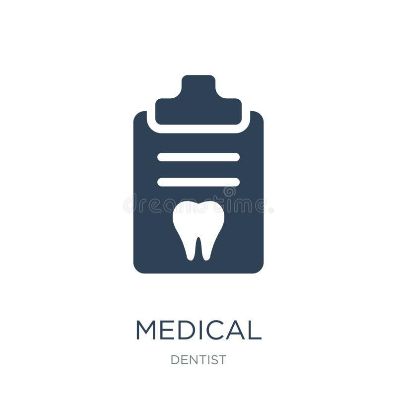 medyczna recepturowa ikona w modnym projekta stylu medyczna recepturowa ikona odizolowywająca na białym tle recepta medycznej royalty ilustracja