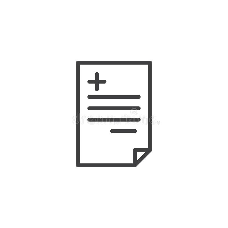 Medyczna recepty linii ikona royalty ilustracja