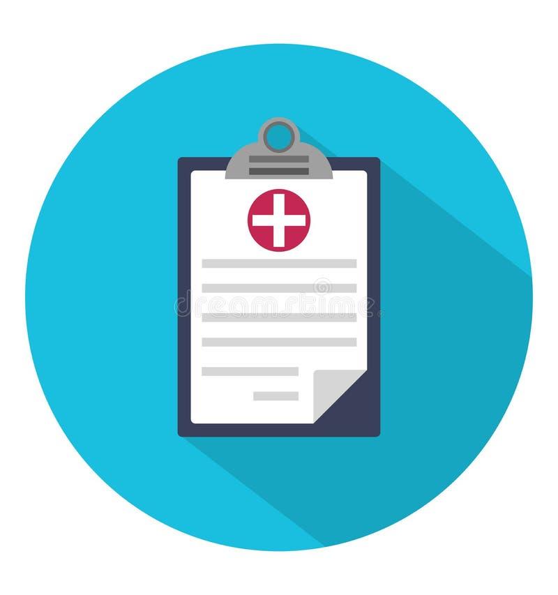 Medyczna schowek ikona w okręgu ilustracja wektor