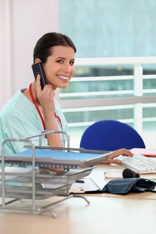 medyczna sekretarka obraz stock