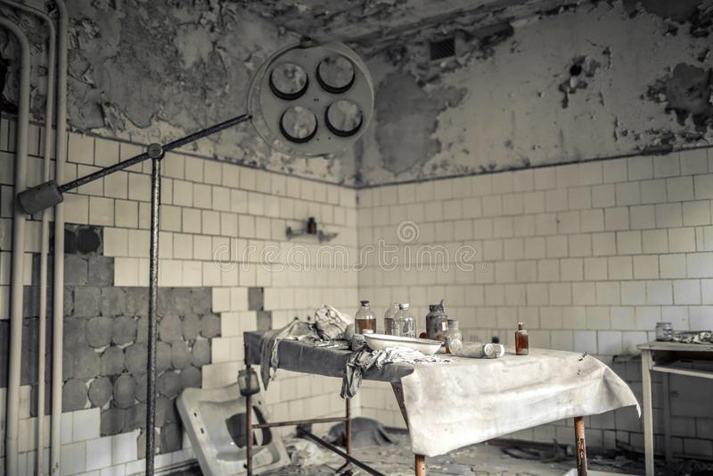 Medyczna stacja 126 Pripyat obrazy royalty free