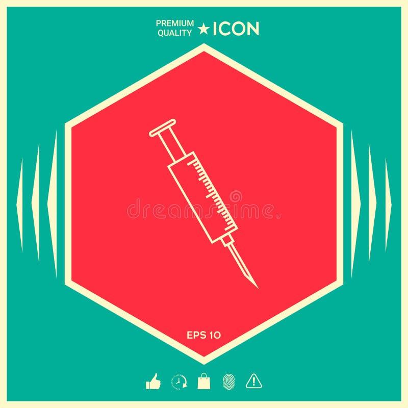 Medyczna strzykawki ikona ilustracji