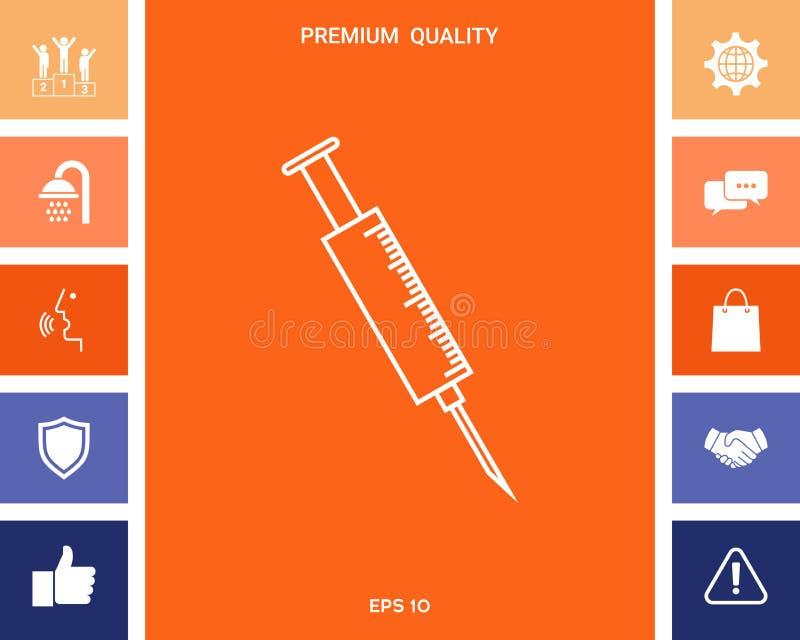 Medyczna strzykawki ikona ilustracja wektor