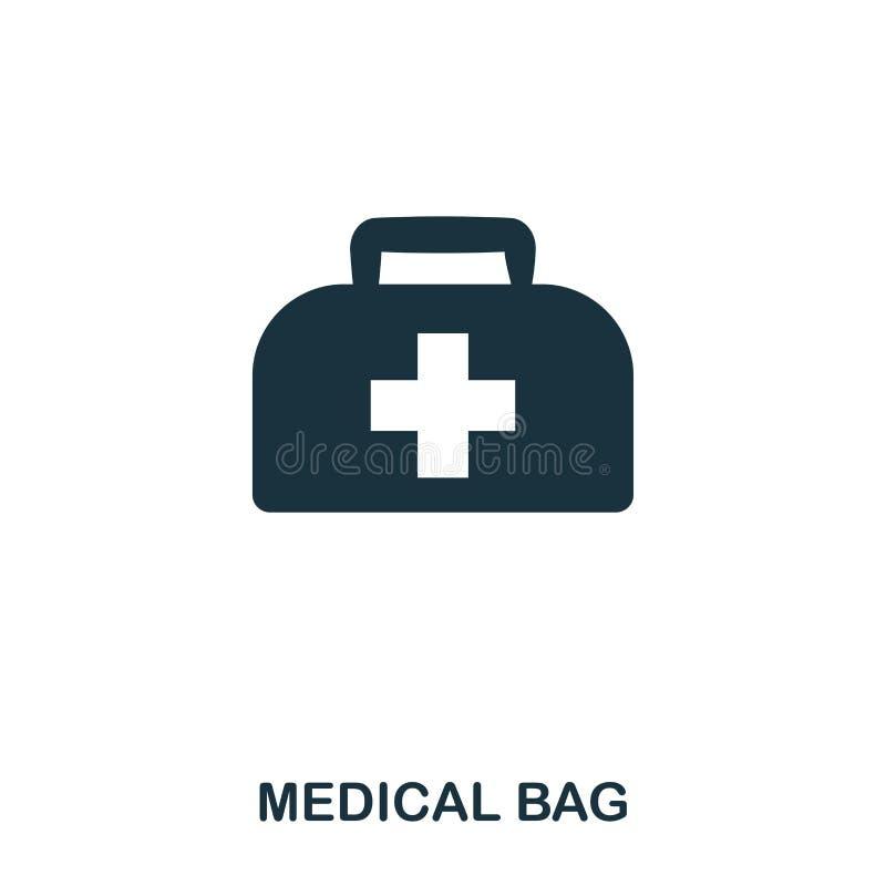 Medyczna torby ikona Kreskowego stylu ikony projekt Ui Ilustracja medyczna torby ikona piktogram odizolowywający na bielu Przygot ilustracji
